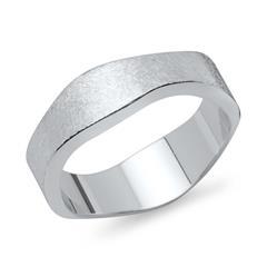Vivo 925 Silber Herrenring eismattiert