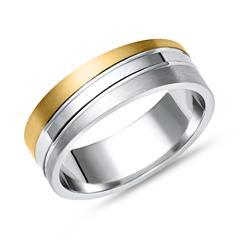 Vivo 925er Silberring teilvergoldet
