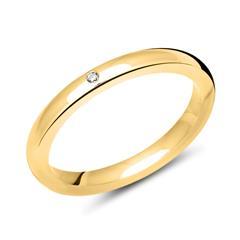 Vergoldeter 925 Silber Damen Ring 2,7mm breit