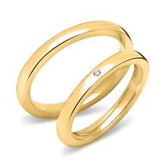 Gold Plated Sterling Silver Wedding Rings With Zirconia
