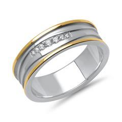 Vivo-Damenring Silber teilvergoldet Zirkonia