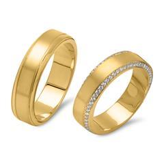 Vivo-Partnerringe 925er Silber vergoldet