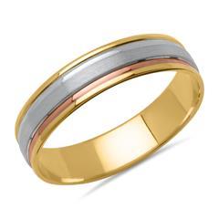 Vivo-Herrenring Tricolor 925er Silber
