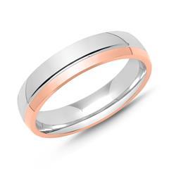 925er Silber Ring Bicolor für Herren