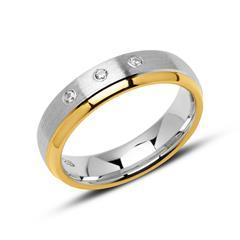Ring für Damen aus 925er Silber vergoldet mit Zirkonia