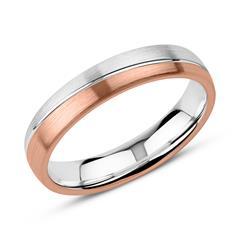 Gravur Ring für Herren aus Sterlingsilber, rosé