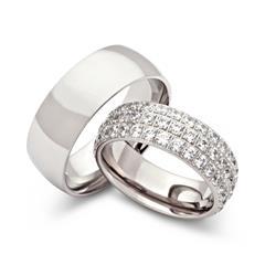 Wedding Rings Stainless Steel Wedding Rings Zirconia Engraving