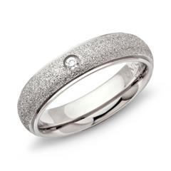 Diamantierter Edelstahlring 5mm Zirkonia