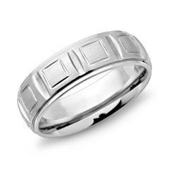 Moderner Ring Edelstahl 7mm Breite