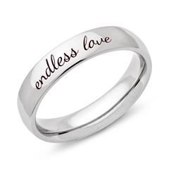 Exklusiver Ring Edelstahl poliert Gravur möglich