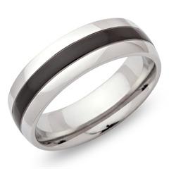 Exklusiver Ring Edelstahl poliert 7mm ionisiert