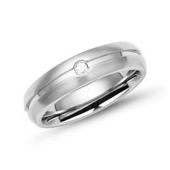 Ring Edelstahl schlicht rund 5mm Zirkonia