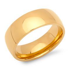 Ring Edelstahl vergoldet 8mm