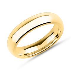 Ring Edelstahl gelbvergoldet 5mm breit