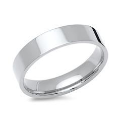 Polierter Ring Edelstahl 5mm breit