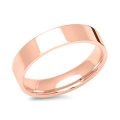 Rosévergoldeter Herrenring 5mm breit poliert