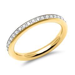 Vergoldeter Edelstahl-Eternity-Damen-Ring