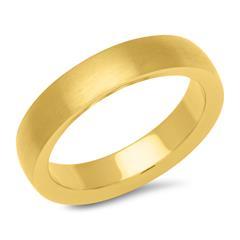 Vergoldeter Ring Edelstahl 4,9 mm breit