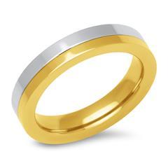 Edelstahl-Ring 4,5 mm breit gold silber