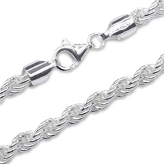 925 Silberkette: Kordelkette Silber