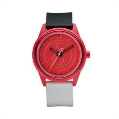 Smile Solar unisex Uhr in schwarz rot