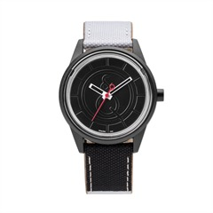 Smile Solar schwarze Armbanduhr unisex