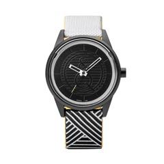 Smile Solar schwarz weiße Armbanduhr unisex