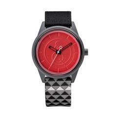 Smile Solar schwarz graue Hipster Uhr