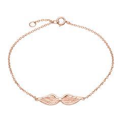 Armband 925er Silber roségold Flügelanhänger