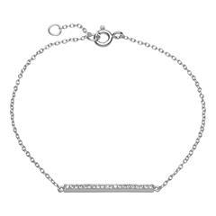 Armband 925er Silber stabförmiger Anhänger