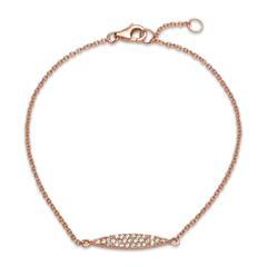 Rosévergoldetes Armband 925er Silber Zirkonia