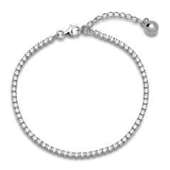 Tennisarmband 925er Silber poliert Zirkonia