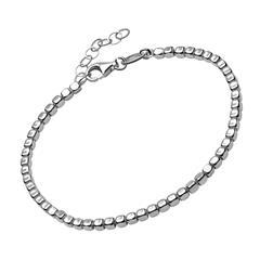 Armband 925er Silber für Damen mit eckigen Beads