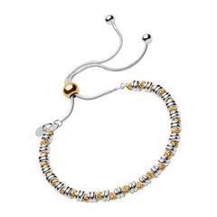 Silber-Armband mit vergoldeten Kugeln für Damen