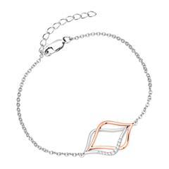 Armband Bicolor für Damen aus 925er Silber