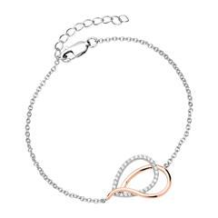 Armband für Damen aus 925er Silber Bicolor