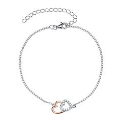 Herzarmband 925er Silber roségold Zirkonia