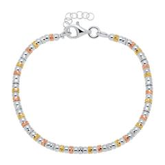 Armband aus Sterlingsilber tricolor