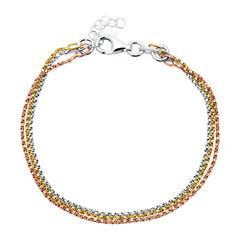 Tricolores 925er Sterlingsilber Armband
