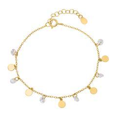 Vergoldetes Sterlingsilber Armband mit Zirkonia