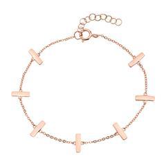 Armband aus rosévergoldetem Sterlingsilber