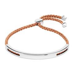Gravur Armband aus 925er Silber Roségold metallic-Band