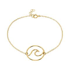 Damenarmband im Wellendesign aus 925er Silber vergoldet
