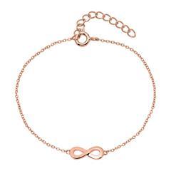 Armband Infinity aus rosévergoldetem Sterlingsilber