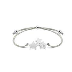Stern Armband aus Textil und 925er Silber