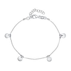 Plättchen Armband für Damen aus Sterlingsilber