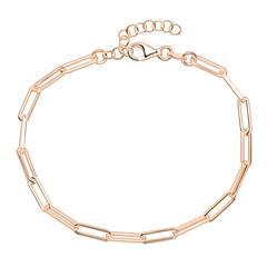 Gliederarmband aus rosévergoldetem 925er Silber