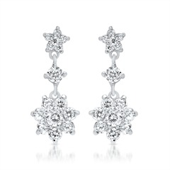 925 Silber Ohrstecker Blumenförmig