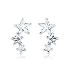925 Sterling Silber Ohrstecker Sternenförmig