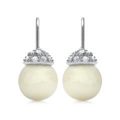Extravagante Perlen Ohrhänger Silber